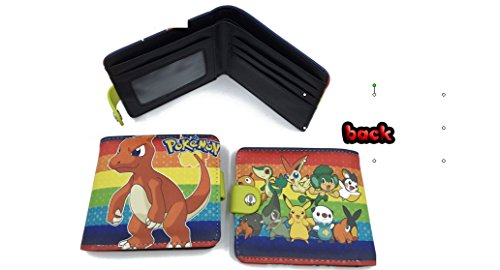 [Pokemon Charmeleon and Pokemon Characters Rainbow Pattern Snap Wallet] (Pokemon Character Costumes)