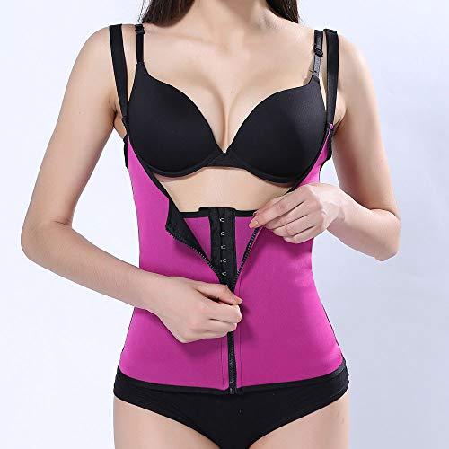de Rose Fermeture Minceur Vif Formateur éclair Shaper Taille Femme Sweat ◕‿◕LianMengMVP Sauna Body Gilet vHwwUq