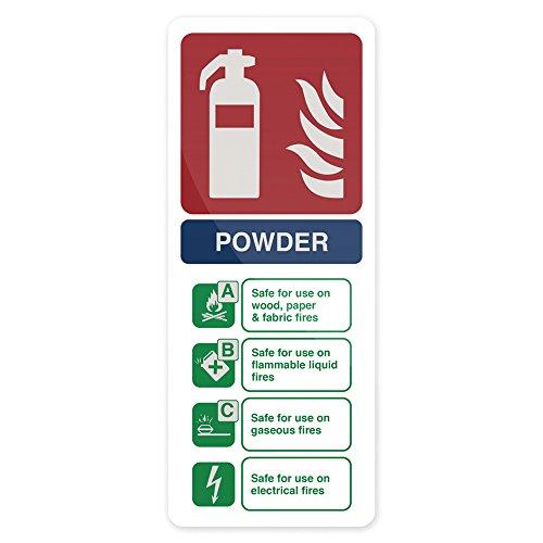 - Fixman 350421 Glow-in-the-dark Dry Powder Fire Extinguisher Sign 202 x 82mm