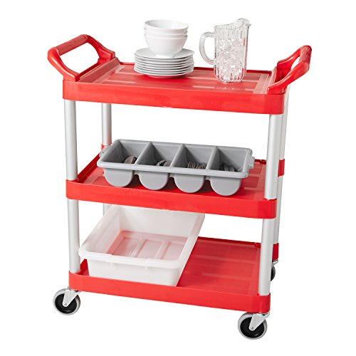 Rubbermaid Commercial Utility Cart Red Fg342488red Renovation Store