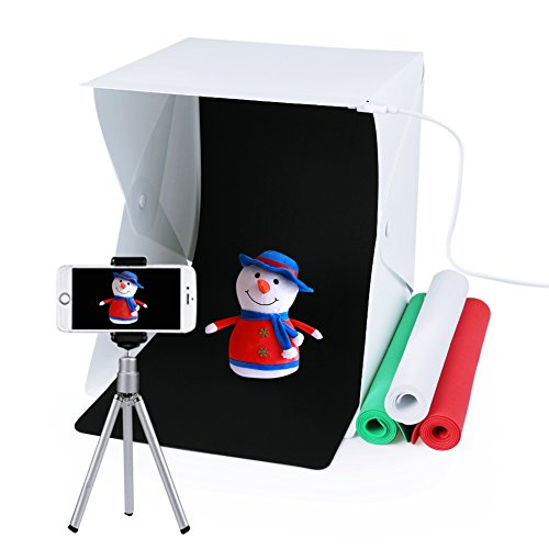 Photo Photography Studio, Folding Table Top Shooting Tents Light Box with 4 Backdrops Kit by Huaanlongus