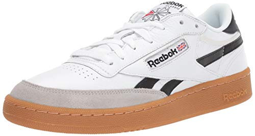 Gum White Black - Reebok Men's Revenge Plus Sneaker White/Snowy Grey/Black Gum 4.5 M US