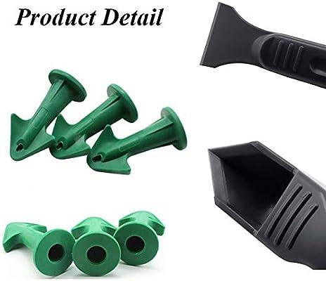 Kit de herramientas de calafateo de silicona, juego de removedor de sellador de 4 piezas con raspador/boquilla, herramienta de alisado de acabado de sellador de silicona para cocina de baño: Amazon.es: Bricolaje