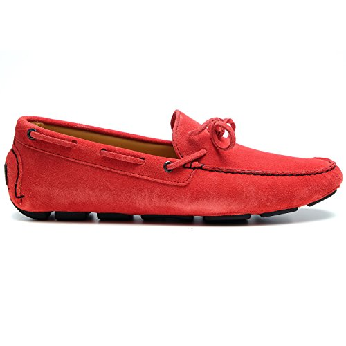 zanetti , Mocassins pour femme Rouge rouge