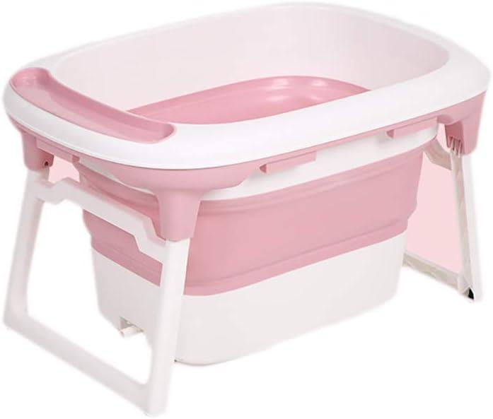 ベビーポータブル折りたたみ式バスタブ、折りたたみ式シャワートレイ、快適な折りたたみ式ベビーバスタブ、浴槽、2色(カラー:ピンク)