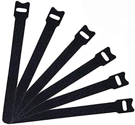50 Stück wiederverwendbare Klettkabelbinder Kabelklett Seilklett Veranstalter mit Klettverschluss, Metallschnallen - einstellbare Mehrzweck-Klettverschluss Kabel für Kabel-und Kabelmanagement