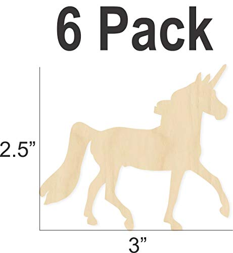Unicorn Wood Cutout - DIY party craft - decorate]()