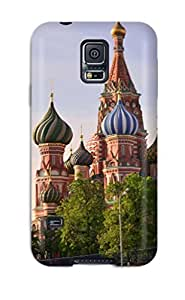 8417927K22986054 Tpu Case Cover For Galaxy S5 Strong Protect Case - Saint Basil's Cathedral Design