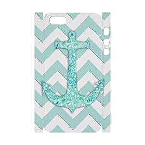 3D Bumper Plastic Customized Case Of Anchor Chevron for iPhone 5,5S
