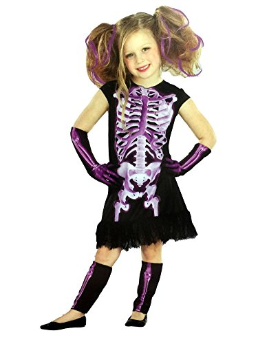 Totally Ghoul Girls Purple Shocking Xray Halloween Costume Dress Up Outfit -