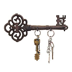 amazon com decorative wall mounted key holder vintage key with 3