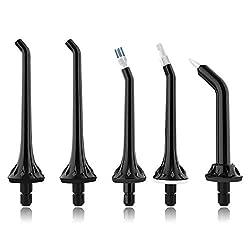 Jaspik Cordless Water Flosser Replacement Jet Tips Set for FC159, 5 Jet Tips Orthodontic Tip Periodontal Tip Dental Plaque Tip High Pressure Oral Irrigators Flossing Tips