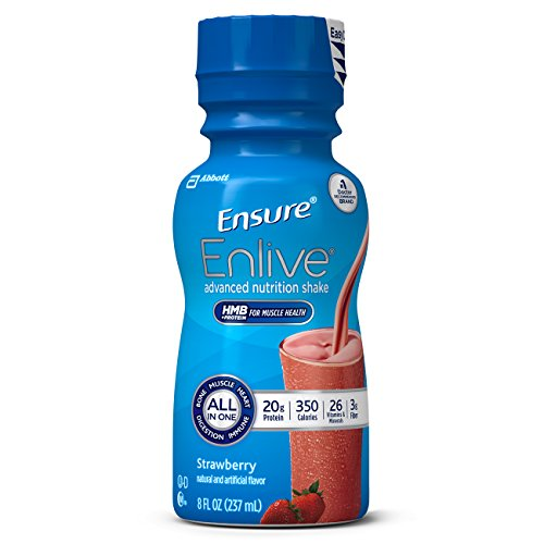 amazon com sample ensure enlive advanced nutrition shake with 20 grams of protein meal replacement shake strawberry 8 fl oz single bottle health