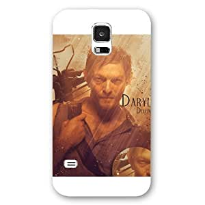 UniqueBox - Customized White Frosted Samsung Galaxy S5 Case, The Walking Dead Daryl Dixon Samsung S5 case, Only fit Samsung Galaxy S5