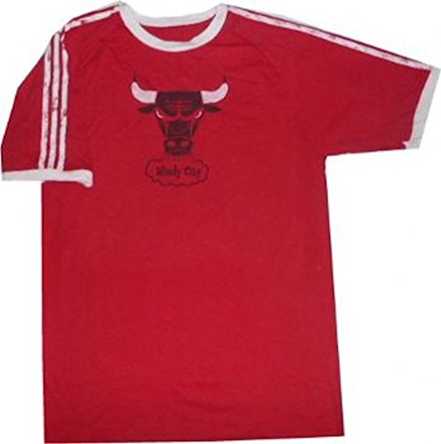 Adidas Rose Logo T-shirt - Chicago Bulls Throwback Vintage Adidas Premium Slim Fit Shirt (Large)