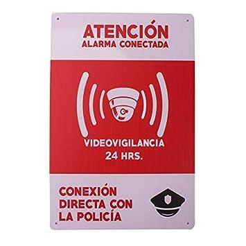 Carteles Alarmas Zonas Videovigilada ✔️Placas VideoVigilancia Seguridad 🚨 Protegemos TÚ Casa 🚨 Resistentes 🌨️🌩️ Aquí te lo DEMUESTRO 👉
