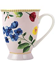 Maxwell & Williams HV0018 Teas & C's foted kaffekopp/tekopp med contessa design, porslin, rosé