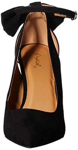 Women''s Qupid Toe Pointy Black Pump SWpRFw