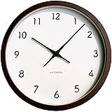KATOMOKU muku round wall clock 7 ブラウン 電波時計 連続秒針ムーブメント km-60BRC φ306mm (ブラウン)