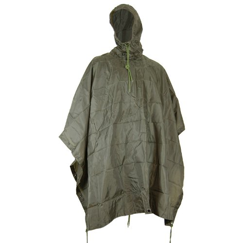 Mil-Com Waterproof Poncho Ripstop Olive
