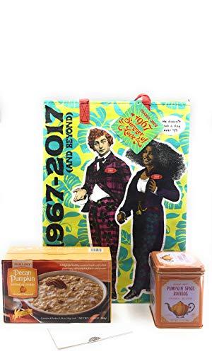 Trader Joe's Pecan Pumpkin Instant Oatmeal & TJ's Pumpkin Spice Rooibos Herbal Blend Tea + A Free TJs Reusable 50th Anniversary Grocery Tote and More Bundle. Best Gluten Free Bundle ()