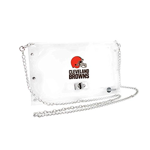 NFL Cleveland Browns Clear Envelope Purse