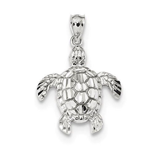 ICE CARATS 14kt White Gold Sea Turtle Pendant Charm Necklace Life Fine Jewelry Ideal Gifts For Women Gift Set From - Turtle Gold White
