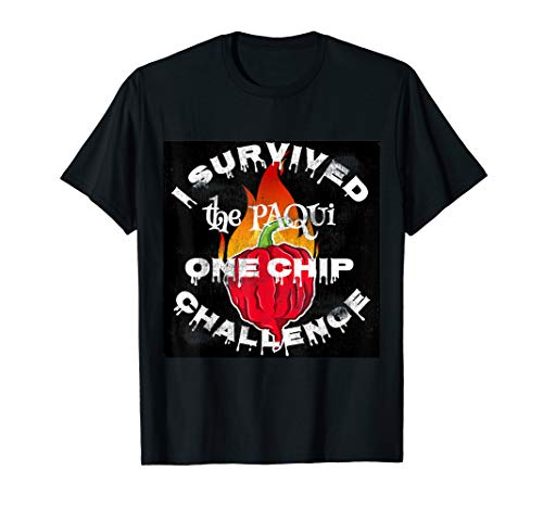 Paqui One Chip Challenge Ghost Pepper Survival Swag T-Shirt