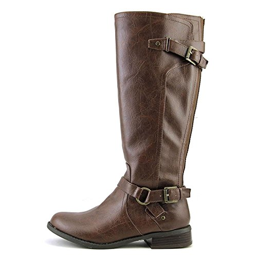 by Guess 6 G WIDE HING Size Round Knee Womens Riding High 0 CALF Brown Toe ZdwwOq