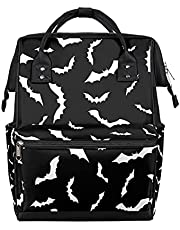 Bats Diaper Bag Backpack Large Capacity Baby Nappy Bag for Boys Girls, Bats Halloween Multifunction Travel Back Pack Waterproof Maternity Diaper Bag for Women Men Mom and Dad