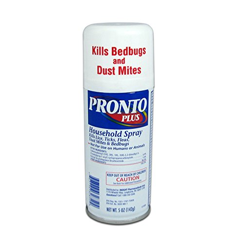 (Pronto Plus Bedbugs and Dust Mite Killer Household Spray, 5 ounce Can)