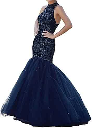 ae3388702ef Ri Yun Halter Prom Dresses Long Mermaid Sexy 2018 Backless Beaded Tulle  Fomal Evening Ball Gowns
