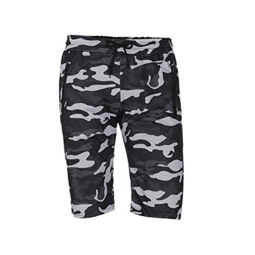 vermers Mens Summer Casual Cargo Shorts 2018 Camouflage Short Pants(M, Black) by vermers (Image #5)
