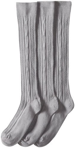 Jefferies Socks Big Girls' Cable-Knit Knee-High Sock Three-Pack