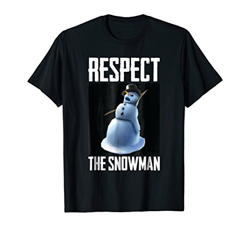 Respect The Snowman Funny Christmas Holiday Graphic T-Shirt -