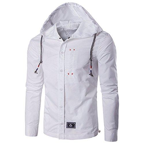 maniche maniche maniche lunghe lunghe lunghe lunghe tutto giacca la corrisponde semplice libero a giacca uomini tempo casualmente il 5xl sono white gli moda 8t0qU0