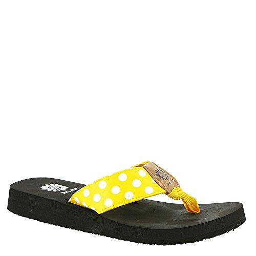 Yellow Box Women's Zadie Flip-Flop, Yellow, 7.5 M US