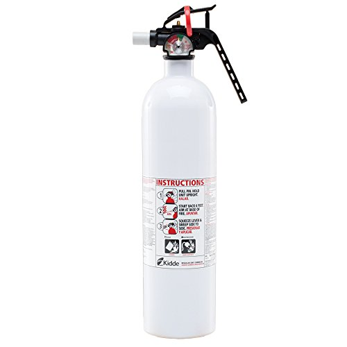 (Auto/Marine 10-B:C Fire Extinguisher, Metal Valve, White)
