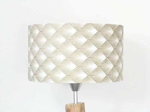 Abat Jour Motif Geometrique Art Deco Or Luminaire Chambre