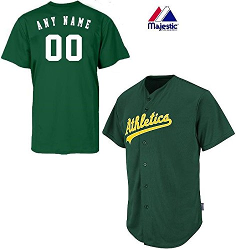 Oakland Athletics Full-Button CUSTOM or BLANK BACK Major League Baseball Cool-Base Replica MLB Jersey – DiZiSports Store