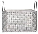 "14""L x 14""W x 8""H Rectangular Electro polished Stainless Steel Mesh Basket"