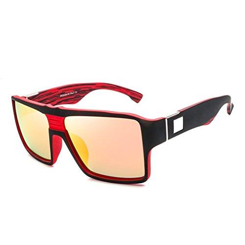 Gafas Retro De Red Gafas LUHUIYUAN Green Coloridas Conducción De De Sol Sol Cuadradas xg6vwXq