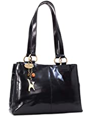 Catwalk Collection Handbags - Women's Large Vintage Leather Tote/Shoulder Bag - BELLSTONE