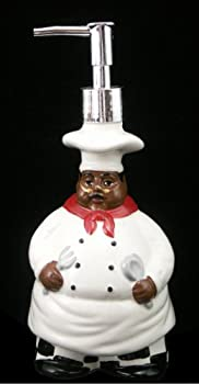 Black chef soap dispenser