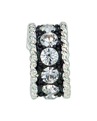 Crystal Shine Small Hoop - Montana Silversmiths Womens Crystal Shine Small Hoop Earrings Silver