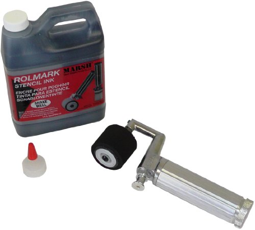 "MARSH Fountain Roller Kit with Full 3"" Length Roller and 1 qt. Black Rolmark Stencil Ink by Marsh"