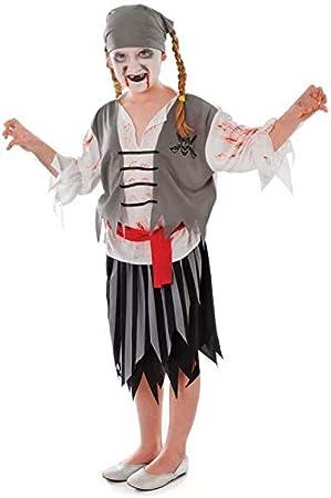 Zombie - Disfraz de pirata niño, talla 3-4 años: Amazon.es ...