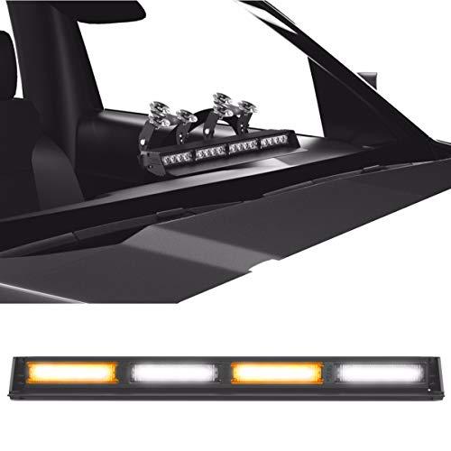 Striker TIR 4 Head LED Dash Light for Emergency Vehicles/Warning Strobe Deck/Dash Light Windshield Mount - Amber/Clear Alternating ()