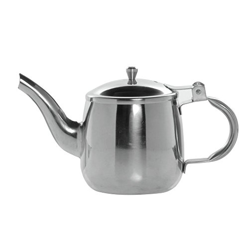 HUBERT Tea Server with Gooseneck 10 Ounce Stainless Steel