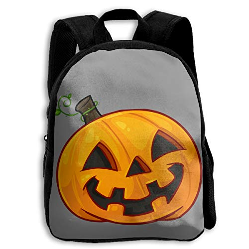 AHOOCUSTOM Pumpkin Face Halloween 3D Print Custom Unique Casual Backpack Schoolbag Shoulder Bag for Boys Teen Girls -